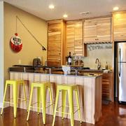 北欧风格简约小户型厨房吧台效果图赏析