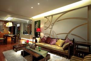 156平米现代简约东南亚风格四室一厅一卫装修效果图赏析