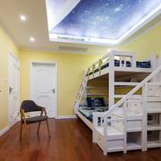15平米简欧风格儿童房星空吊顶装修效果图