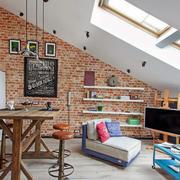45平米北欧风格阁楼室内装修效果图赏析
