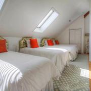 现代极简主义风格阁楼卧室装修效果图