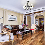 美式风格大户型客厅挂画装修效果图赏析