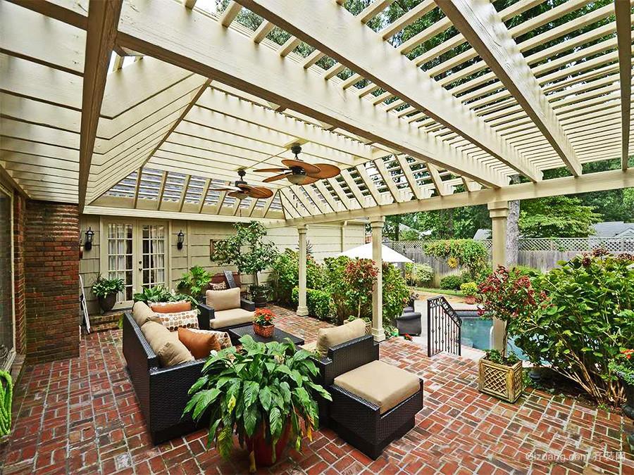 现代简约风格别墅花园装修效果图赏析