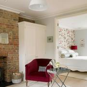 60平米简约北欧风格色彩混搭卧室装修效果图