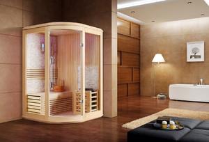 现代简约中式家用桑拿房装修效果图