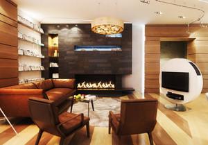 精致风格客厅壁炉装修效果图大全