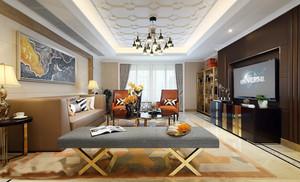后现代风格开放式客厅书房效果图赏析