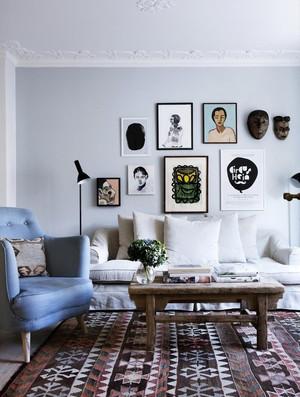 16平米北欧风格客厅沙发照片墙装修效果图