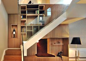 65平米后现代简约风格跃层楼梯装修效果图