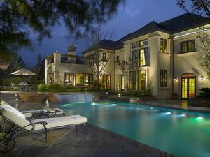 232平米古典美式风格别墅整体设计装修效果图