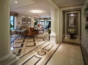 169平米美式田园风格别墅室内装修效果图赏析