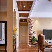 美式乡村风格两居室过道装修效果图赏析