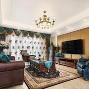 20平米仿古美式风格客厅装修效果图赏析