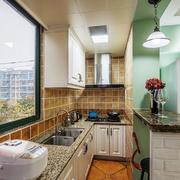 12平米美式田园风格厨房装修效果图赏析效果图