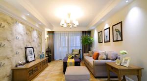 欧式田园风格大户型客厅电视背景墙装修效果图鉴赏