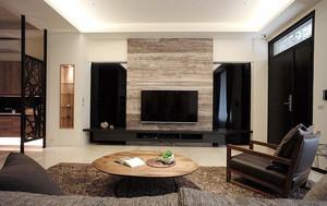 简欧风格大户型客厅电视石材背景墙装修效果图大全
