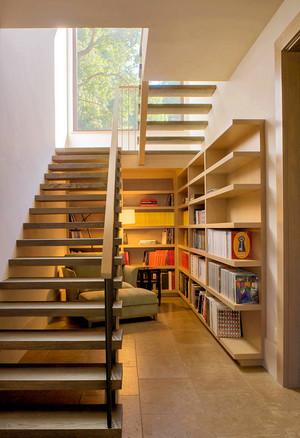 现代简约风格复式楼楼梯书房装修效果图赏析
