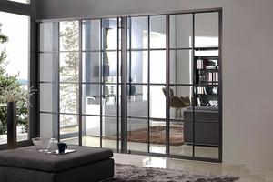 现代简约中式风格室内推拉门装修效果图大全