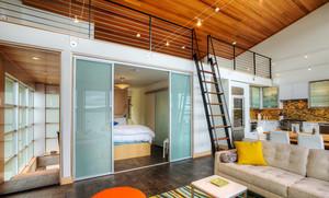 日式风格大户型卧室推拉门装修效果图