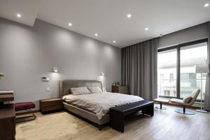 30平米现代简约风格卧室落地窗装修效果图