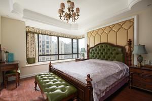 现代简约法式风格大户型卧室带飘窗装修效果图