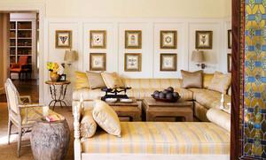 15平米简欧风格客厅沙发背景墙装修效果图