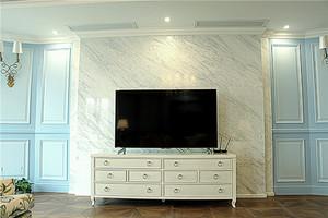 简欧风格三居室客厅电视柜装修效果图