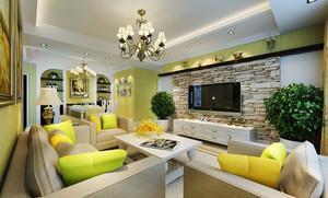 地中海风格色彩混搭客厅装修效果图赏析