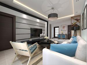 北欧简约风格开放式客厅装修效果图赏析