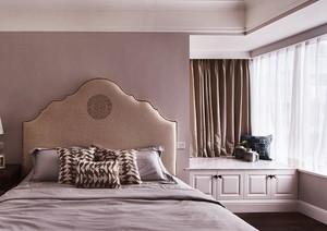 16平米简欧风格卧室带飘窗装修效果图赏析