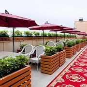 60平米现代风格室外咖啡厅装修效果图赏析