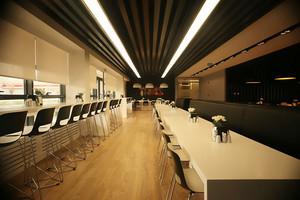 76平米现代风格精致公司餐厅装修效果图