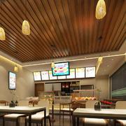46平米东南亚风格商铺奶茶店装修效果图