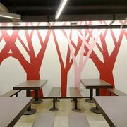 100平米现代简约风格工厂食堂装修效果图赏析