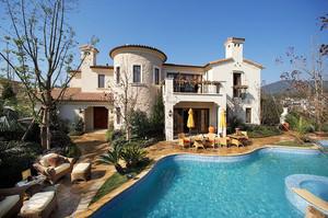 416平米欧式风格别墅室外游泳池装修效果图赏析