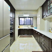 36平米现代简约风格长方形厨房装修效果图
