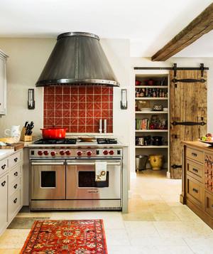 美式乡村风格厨房设计装修效果图