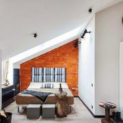 后现代简约风格阁楼卧室装修效果图赏析