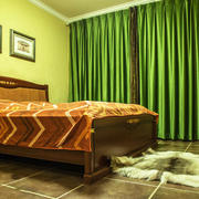 16平米古典欧式风格卧室窗帘装修效果图