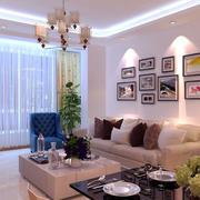20平米现代简约风格客厅照片墙装修效果图