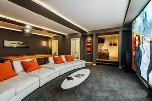 145平米大户型后现代风格客厅家庭影院装修效果图赏析