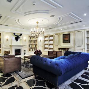 现代简约欧式风格大户型客厅天花装修效果图