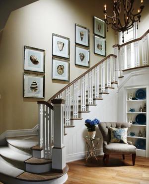 现代简约风格实木楼梯扶手装修效果图赏析
