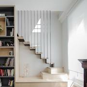 北欧简约风格跃层楼梯书架装修实景图鉴赏