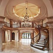 古典欧式风格别墅中空玄关吊顶装修效果图赏析