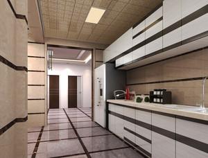 12平米现代简约风格厨房铝扣板吊顶装修效果图