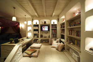 112平米简欧风格一室一厅一卫装修效果图赏析