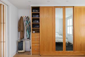 12平米日式简约风格卧室衣柜装修效果图