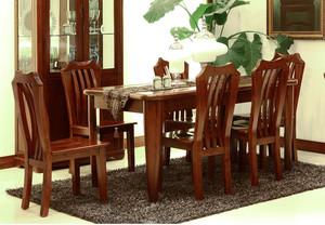 现代简约中式风格餐厅实木餐桌装修效果图赏析