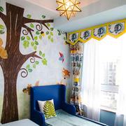 美式简约风格时尚混搭儿童房装修效果图